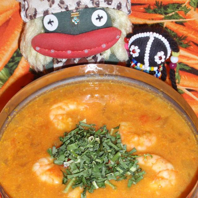 海老のココミルクカレー&小松菜と干し海老のコチュクリーム煮(お家カフェ)