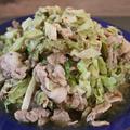 【簡単!】ハーブで野菜モリモリ♪豚コマとキャベツのナツメグ&スイチリ炒め