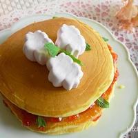 桜マシュマロのせもっちりパンケーキ♪