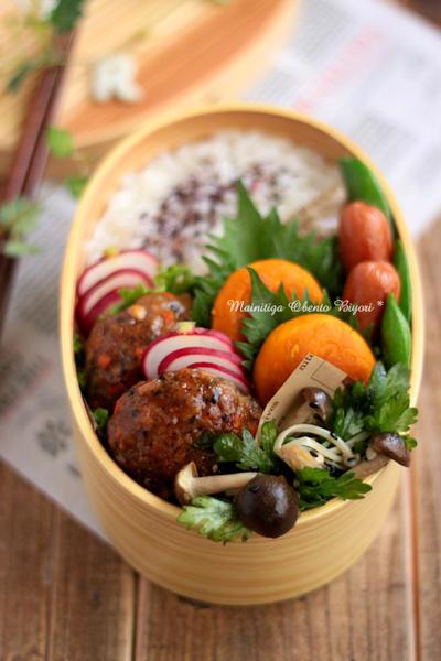 お野菜たっぷり!豚挽バーグのお弁当~パパのお弁当~