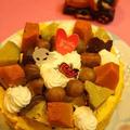 ハロウィンケーキにもなるお誕生日ケーキ
