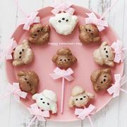 バレンタイン♡トイプードルのケーキポップ♪