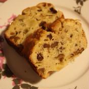 ブランデーレーズンのパウンドケーキ
