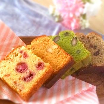パウンドケーキ4種