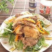 牛肉とがんもの甘辛ガーリック炒め煮