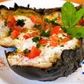 [ナスを使った豪快なイスラエル料理] 〜焼きナスのカルパッチョ スパイシータヒニソース〜