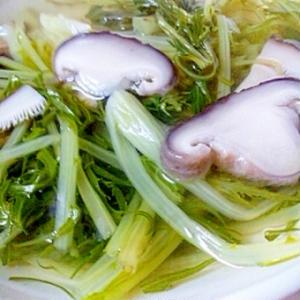 水菜とシイタケのスープ