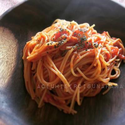 レシピあり*ズボラ飯♪フライパン1つでできるトマトツナパスタ