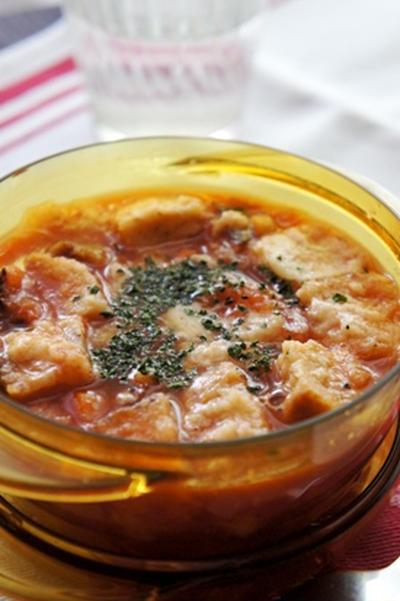 レンジで簡単、イタリアマンマの味、ズッパアルポモドーロ