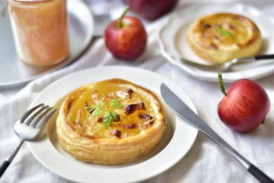 【レシピ】りんごジャムと、簡単オープンアップルパイ