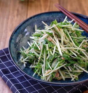 電気や火を使わずにポリ袋で簡単!*水菜とツナのごまマヨサラダ*