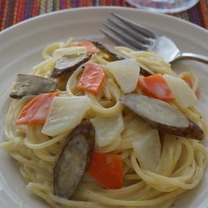 根菜カルボナーラ
