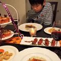 黒×オレンジのハロウィンテーブル by shoko♪さん