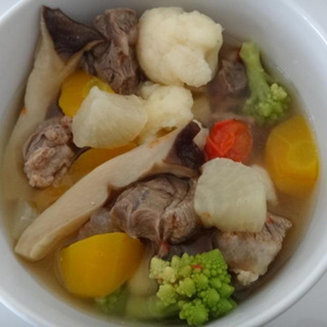 牛すじと野菜たっぷりスープ★★★