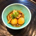 レンジで作る「お月見」おかず^_^里芋と豚バラ肉の炊いたん