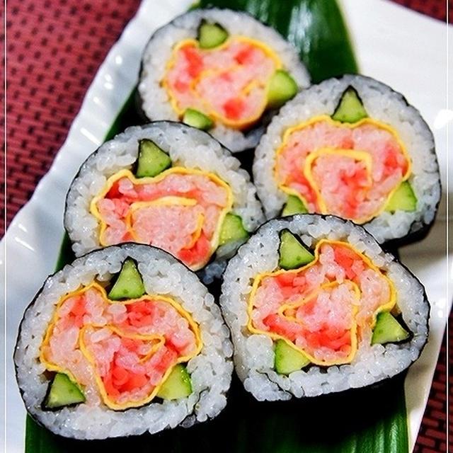 失敗!?細工巻き寿司~気の早い「母の日」の練習