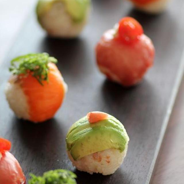 簡単手まり寿司アイディア3つと、魚練習!