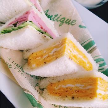 ~厚焼き玉子サンドで朝ごはん~