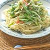 キュウリと水菜とカニかまのサラダ麺