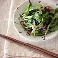 せりと蕎麦の海苔和えサラダ