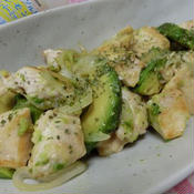 鶏とアボカドのレモンペパー炒め