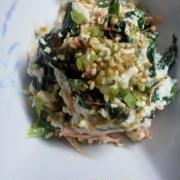 超簡単・豆腐とほうれん草のマヨあえ