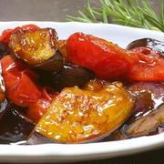 なすとトマトのバルサミコ酢マリネレシピ
