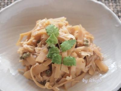 竹の子の姫皮と湯葉の佃煮