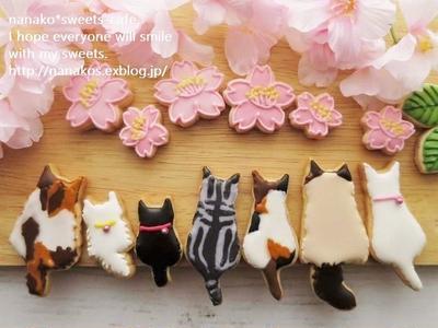 >桜 さくら~♪ * 猫ちゃんたちのお花見  by nanakoさん