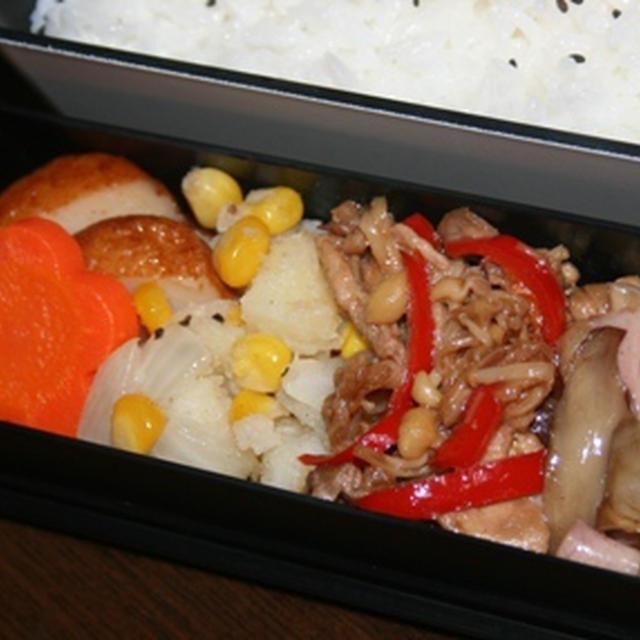 10月17日  えのきと豚肉の炒め物弁当
