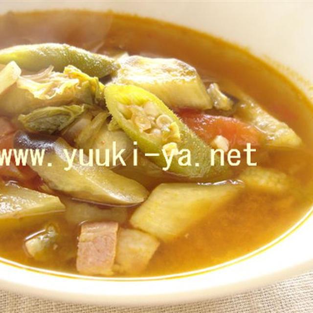 ☆夏バテ解消メニュー☆【キムチと夏野菜のスープ・レシピ】