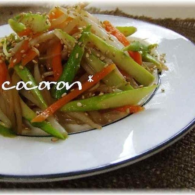 彩り野菜ピリ辛炒め&ソース焼うどん