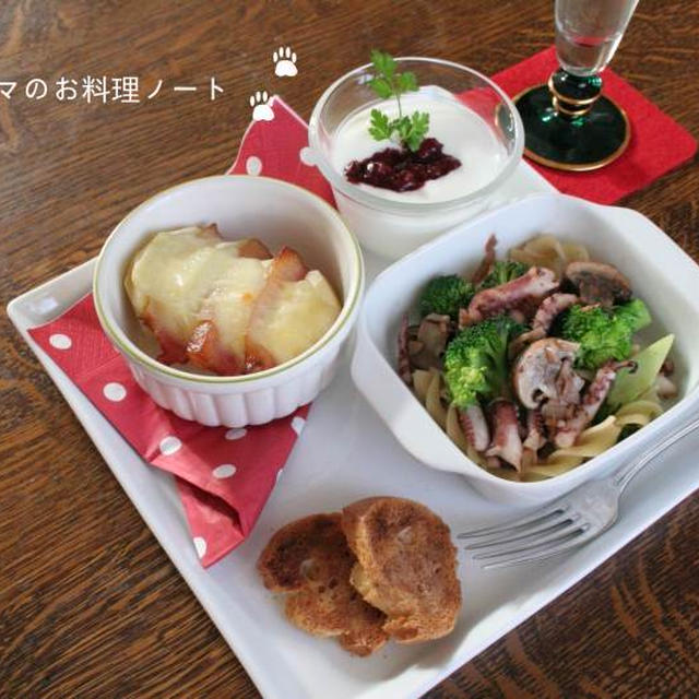 クリスマス(っぽい)カフェランチ☆オーブン料理2種