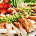 鶏胸肉で辛くないよだれ鶏【BONIQ Proの使い方】(動画レシピ)/Steamed chicken  breast with leek sauce.