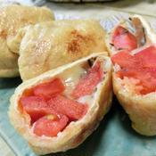 トマトチーズの油揚げ包み焼き