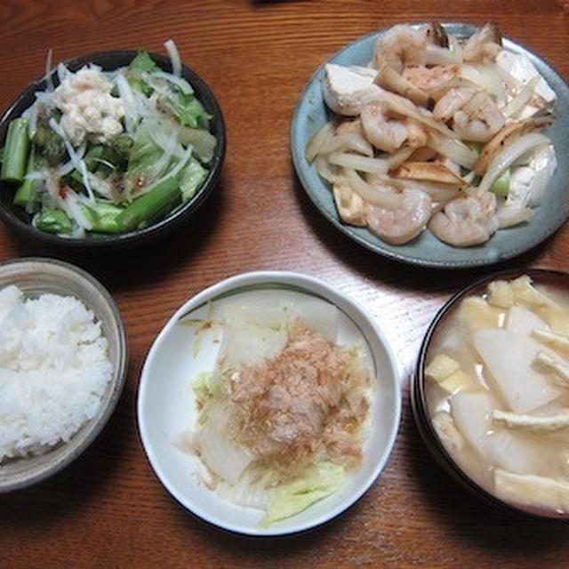 小海老と豆腐の炒め物