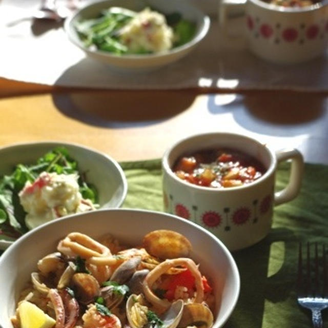 自家製サフランで 簡単☆炊飯器でパエリア