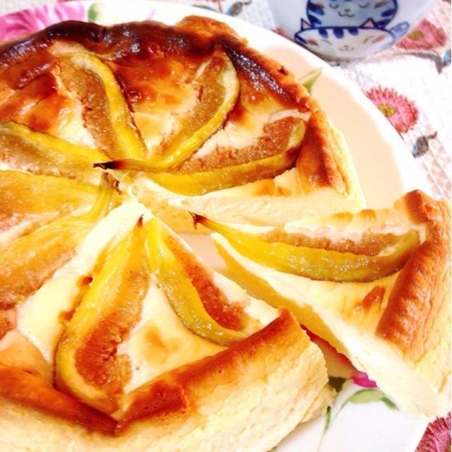 イチジクのチーズケーキ。
