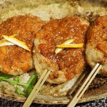■季節料理 【あき流五平餅は柚子味噌仕立て♪】  菜園採り里芋を使ってます^^