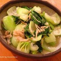 青梗菜炒めと豚肉生姜焼き