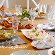 10月料理教室記録『おもてなし洋食☆骨付きもも肉の煮込み、サーモン&トマトの前菜、オーブン料理ほか』