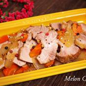 豚かたまり肉のペパー煮
