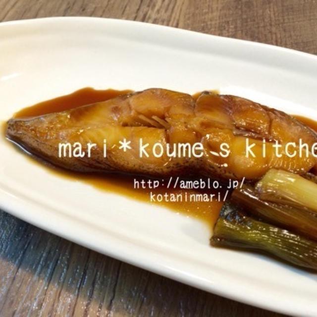 mari*レシピ: カレイの煮つけ。 白ネギも一緒に(*´▽`*)