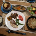 鯛のポアレとミモザサラダの晩ご飯と ヒメリュウキンカの花♪