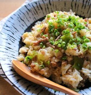 レンジで簡単!キャベツとひき肉の味噌チャーハン