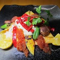創作カフェ風、焼き野菜とアボカドクリームのお寿司~v(^0^)/