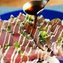 マヨネーズ・ハガツオたたき、カツオはマヨネーズをかけると美味しい!