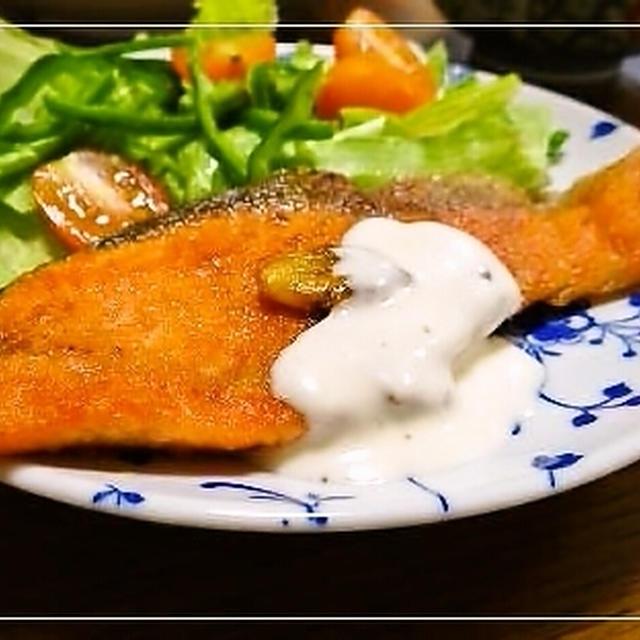 鮭のムニエル&ゴーヤの塩麹冷製パスタ