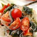 ひんやりつるつる☆トマトとわかめの春雨サラダ