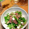 牛肉と焼ききのことルッコラのサラダ